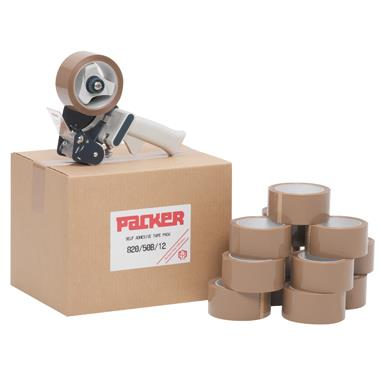 Brown Adhesive Tape and Dispenser Kits