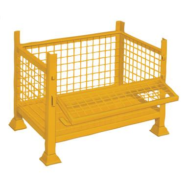Half Drop Side Steel Pallet
