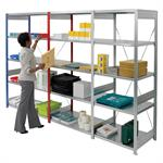Galvanised Bolt Free Shelving 2000mm high bay with 5 shelves