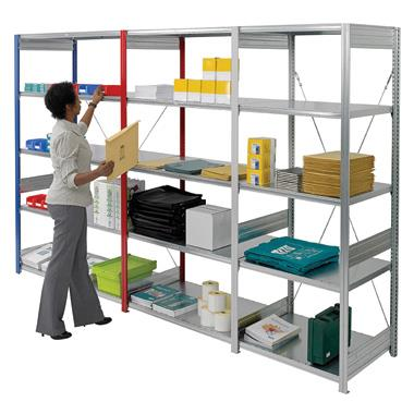 Galvanised Bolt Free Shelving 2200mm high bay with 5 shelves