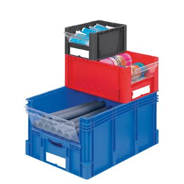 Euro Standard Plastic Stacking XL Containers with View and Pick Opening