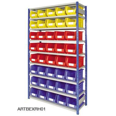 Expo 4 Shelving Complete with Plastic Storage Containers
