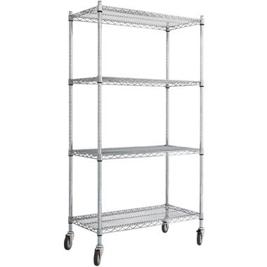 Chrome Wire Mobile Shelving Racks
