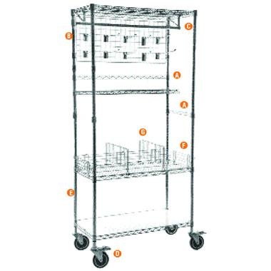 Accessories for Chrome Wire Hygiene Shelving Bays