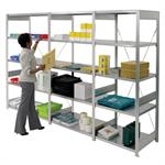 Galvanised Bolt Free Shelving 1850mm high bay with 4 shelves