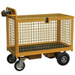 Mesh Security Cage Electric Platform Trucks