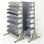 Single/Double Sided Louvred Steel Bin Racks