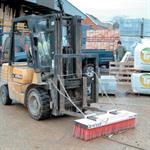 Industrial Fork Truck Sweeper Attachment