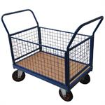 Platform Trucks with Mesh or Plywood Sides and Ends