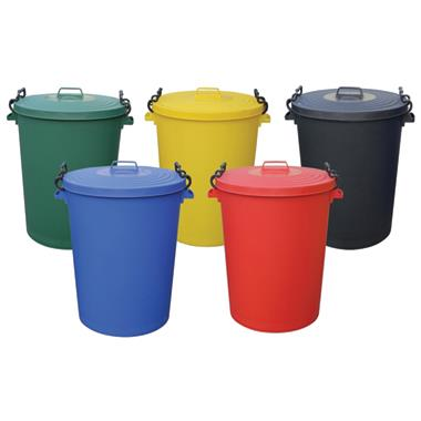 Coloured Clip Bins with Lids
