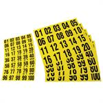 Consecutive Number Self Adhesive Tiles