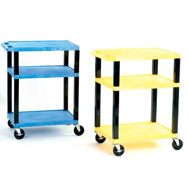 Service Trolleys with Coloured Shelves