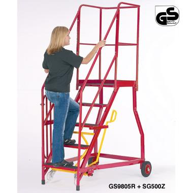 Heavy Duty Mobile Steps with Expanded Steel Treads
