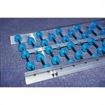 Medium Duty Aluminium Track Gravity Roller Conveyor - PVC Rollers or PVC Skatewheels