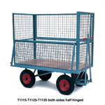 Heavy Duty Industrial Platform Trailer with Mesh Cage