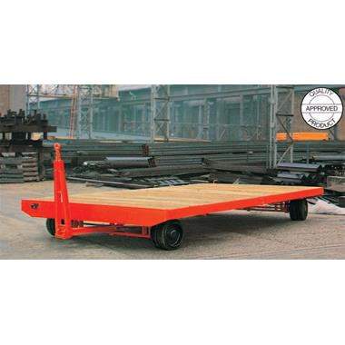 Double Ackerman Steering Heavy Duty Industrial Trailer