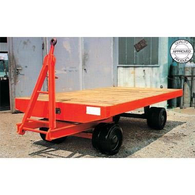 Single Axle Turning Steering Heavy Duty Industrial Trailer