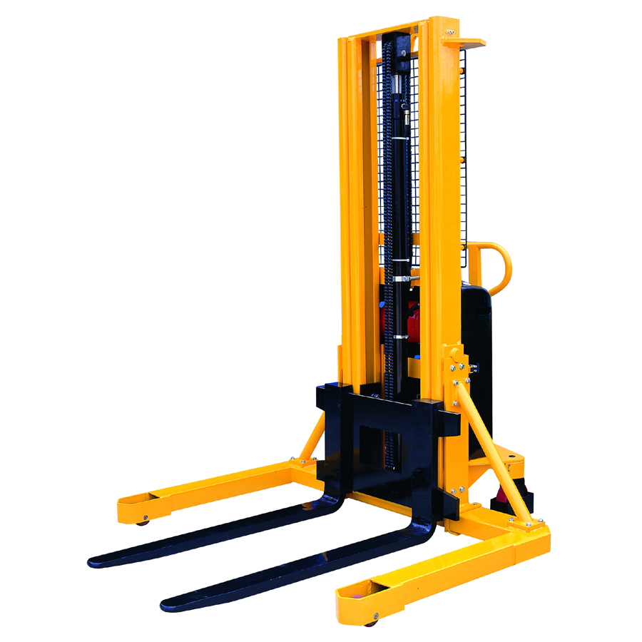 A fork lift stacker