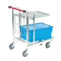 trolley for carrying crates