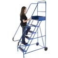 lady on moble stepladder