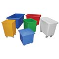 Plastic containers with wheels on suitable for laundry