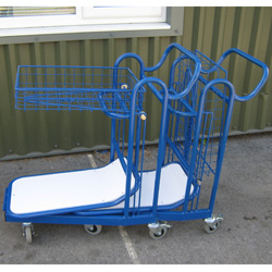 Nesting Trolley with Folding Basket Tray - Leading Convenience Store Group