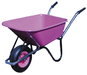 pink wheelbarrow